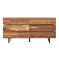 Reclaimed Teak 6 Drawer Double Dresser