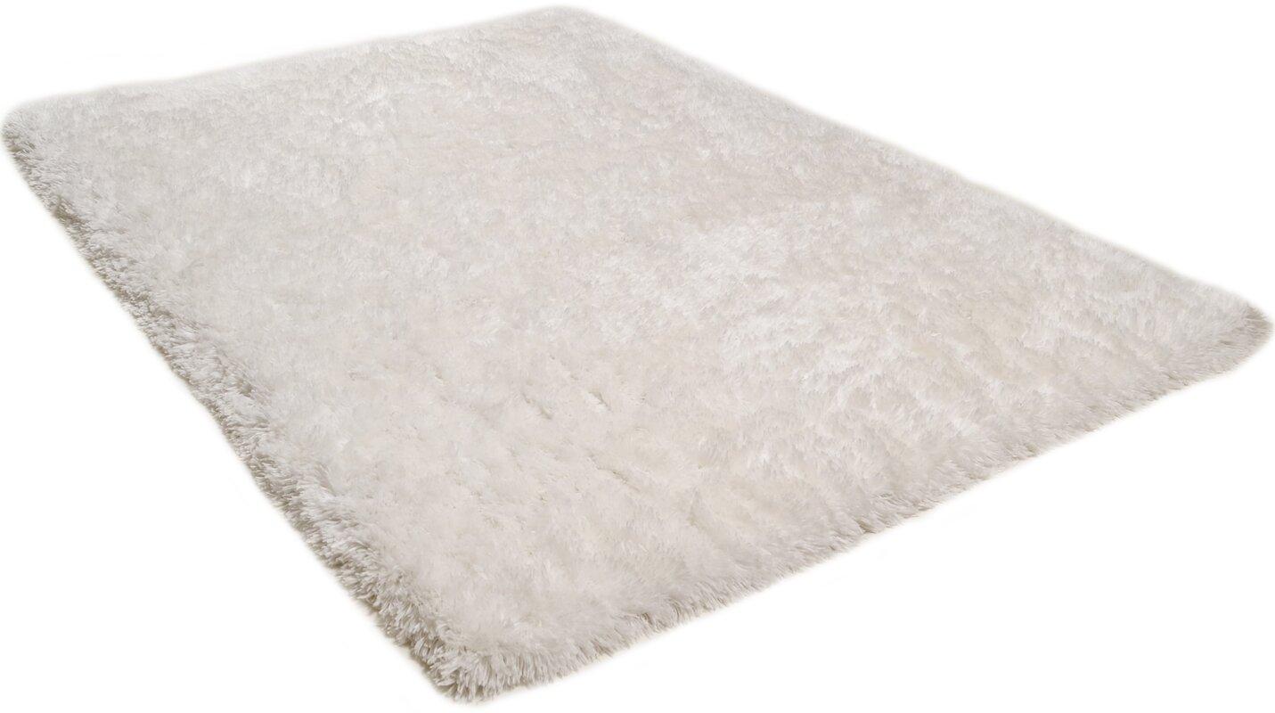 Bel Étage Getufteter Teppich Flokatic in Weiß  Wayfairde