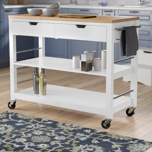 Destanee Kitchen Island with Bamboo Top
