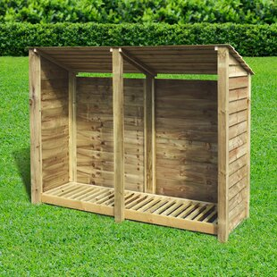 Troutville 7 Ft. x 3 Ft. Wood Log Store by Lynton Garden