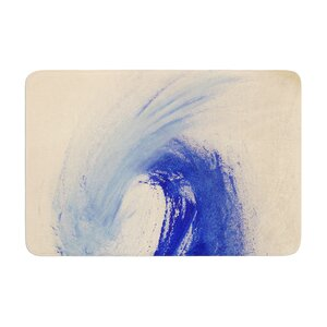 Infinite Spray Art Waveology Memory Foam Bath Rug