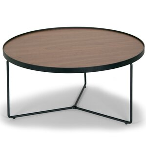 Ailsa Rimmed Round Wooden Coffee Table by Glamour Home Decor