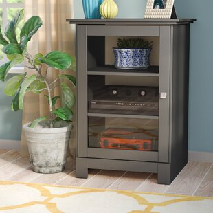 Kew Gardens 1 Door Audio Cabinet In Black