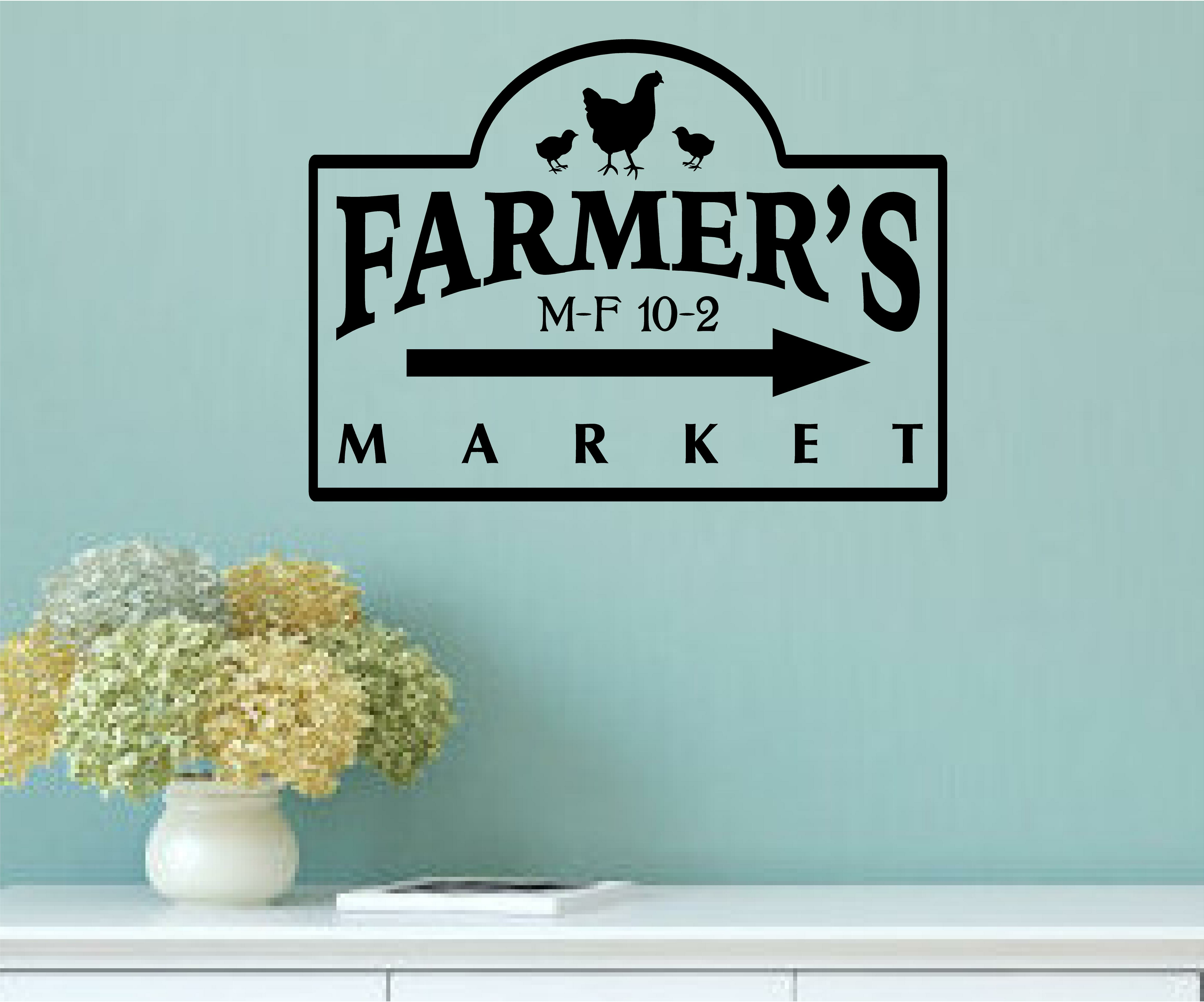 Enchantingly Elegant Farmer\'s Market Vintage Country Kitchen Wall ...