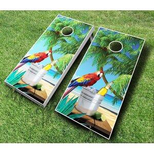 10 Piece Parrot Cornhole Set