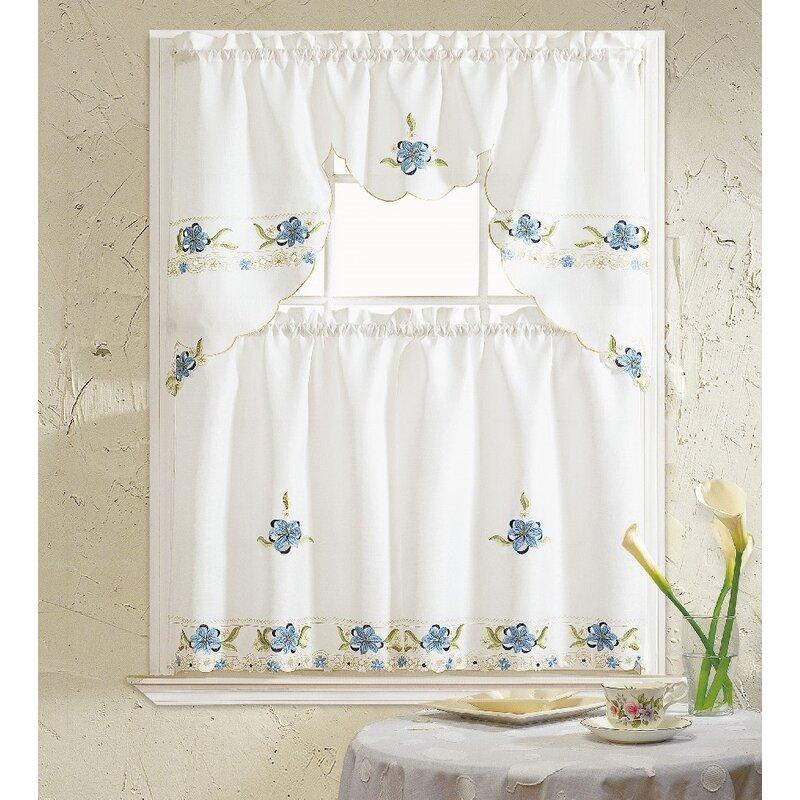 Polsky 3 Piece Kitchen Curtain Set