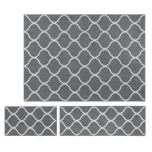 3 Piece Area Rug Set Grey Wayfair