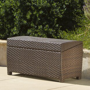 Hetzel Wicker Storage Bench : patio storage chair - Aquiesqueretaro.Com