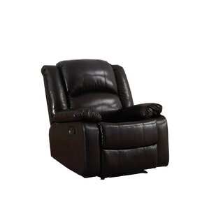 Parsonsfield Manual Glider Recliner. Black Brown