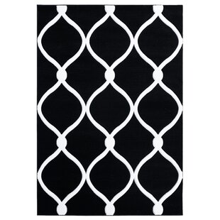 Fishback Black/White Area Rug ByEbern Designs