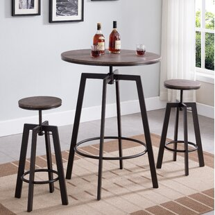 Vella 3 Piece Adjustable Pub Table Set