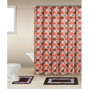 Rosella 15 Piece Shower Curtain Set