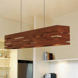 aeris linear 5light kitchen island pendant