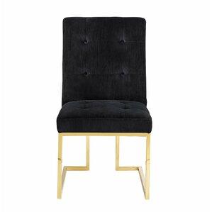 Sherri Velvet Parsons Chair (Set of 2) by Everly Quinn