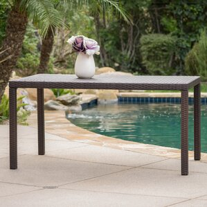 Joselyn Outdoor Wicker Rectangular Dining Table by Zipcode Design