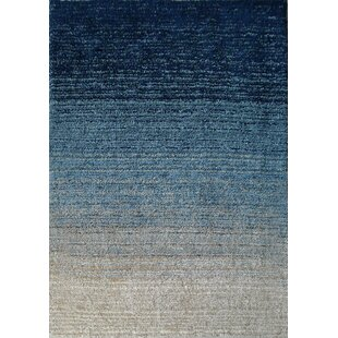 Moro Shag Hand Tufted Blue Area Rug Modern  Contemporary Angeline AllModern