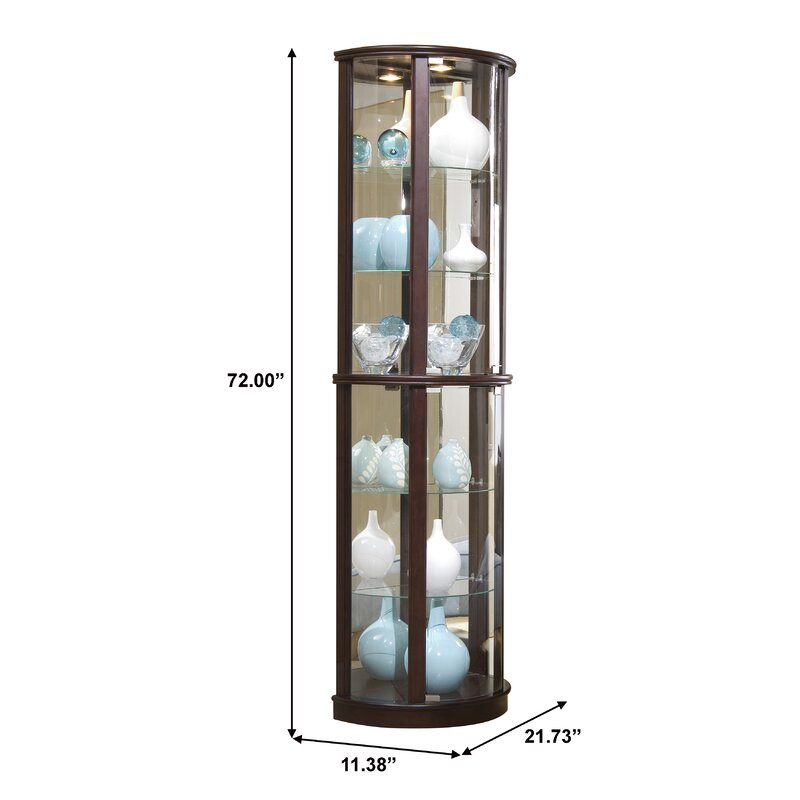 Exceptionnel Chesapeake Narrow Lighted Curio Cabinet