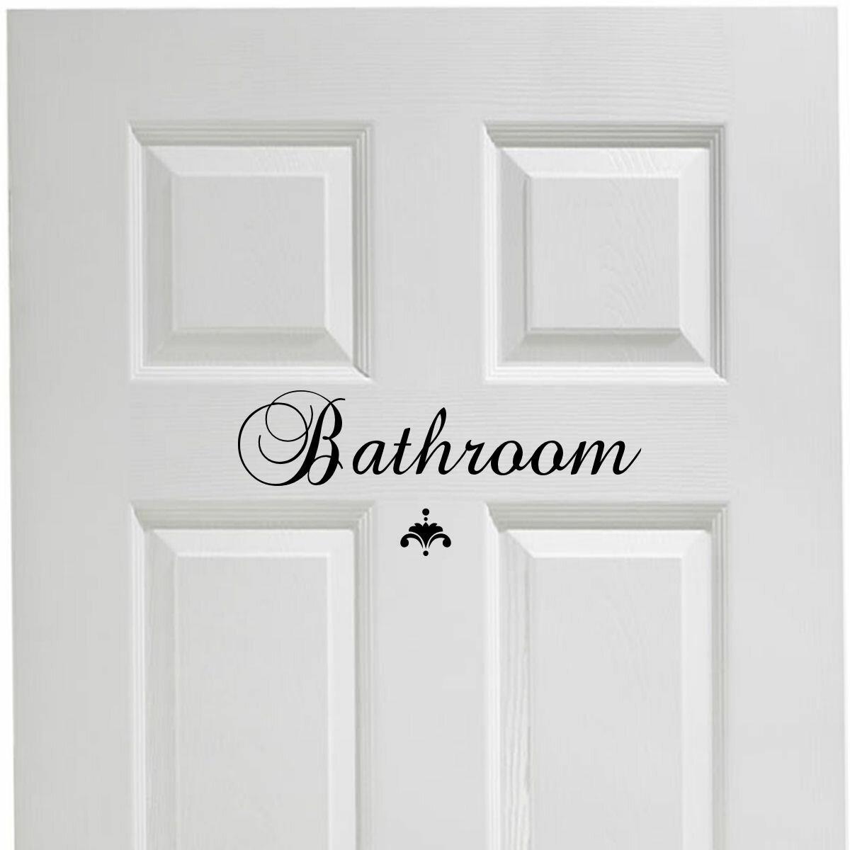 . Bathroom Door Decal