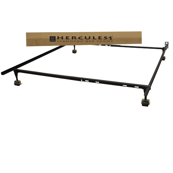 Alwyn Home Standard Heavy Duty Adjustable Metal Bed Frame with ...