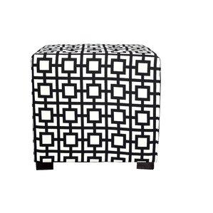 Merton Gigi Square 4-Button Upholstered Ottoman by MJL Furniture