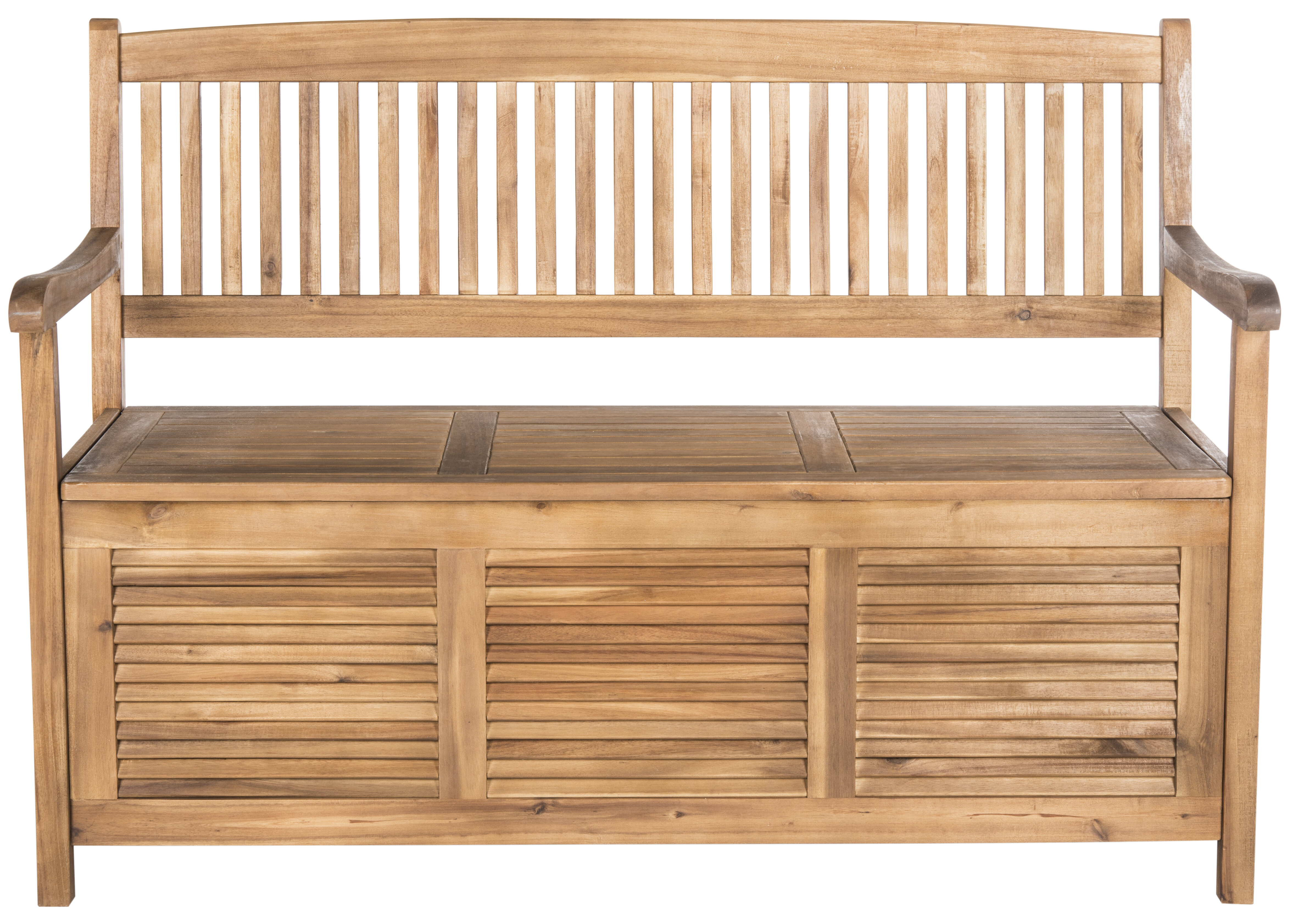 Brisbane Acacia Garden Storage Bench Reviews Allmodern