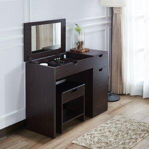 Makeup Tables And Vanities Youll Love Wayfair - Vanity desk no mirror