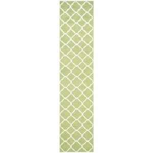 Fullerton Green/Ivory Geometric Area Rug