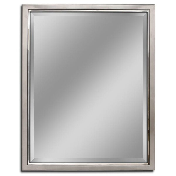framed mirrors for bathroom vanities barrel studio kennith classic metal framed bathroom 23199