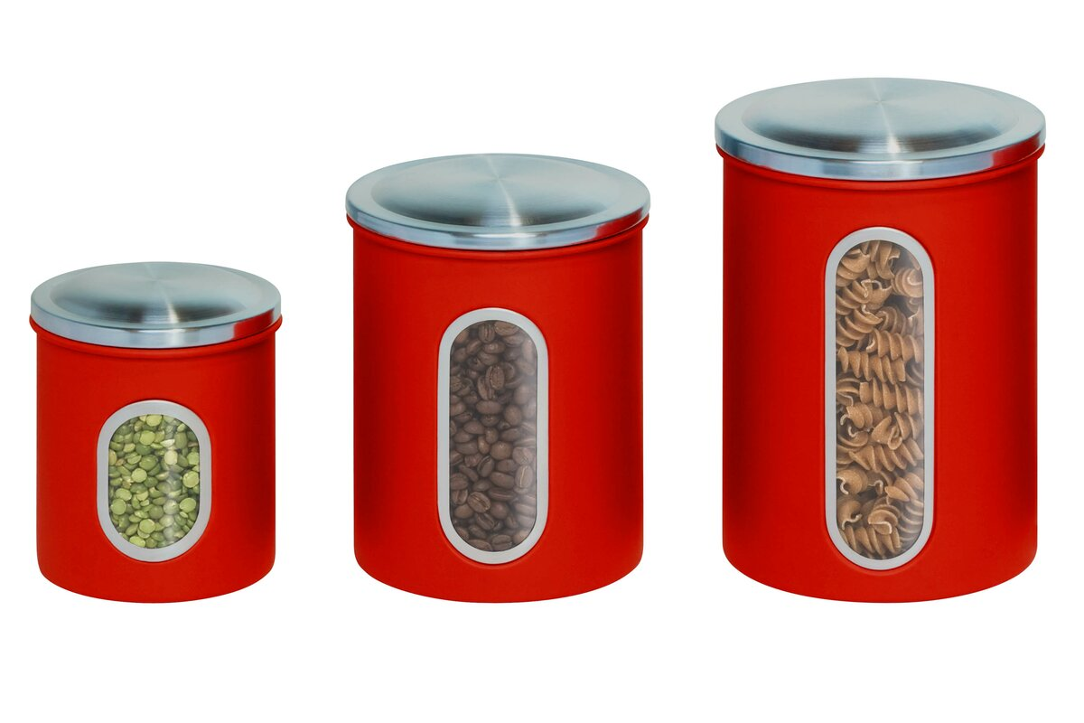 kitchen canisters canada honey can do nested 3 kitchen canister set amp reviews 12963