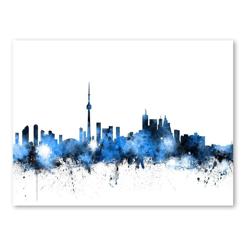 Americanflat Toronto Canada Skyline Wall Mural Wayfair