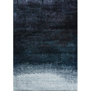 Tie Dye Tufted Gradient Blue Rug by Art for kids