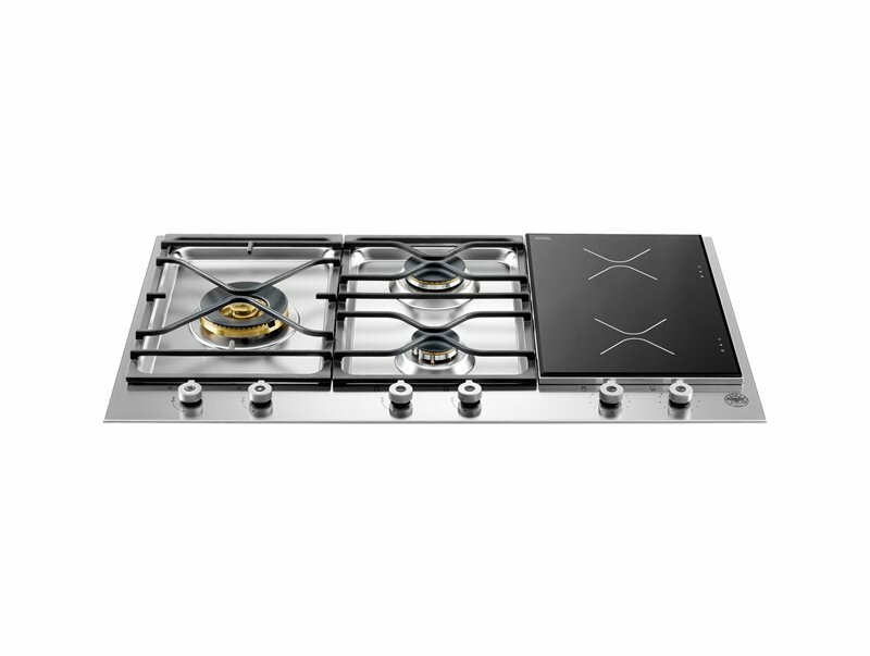 Bertazzoni Pro Series 35 Induction and Gas Cooktop with 5 Burners
