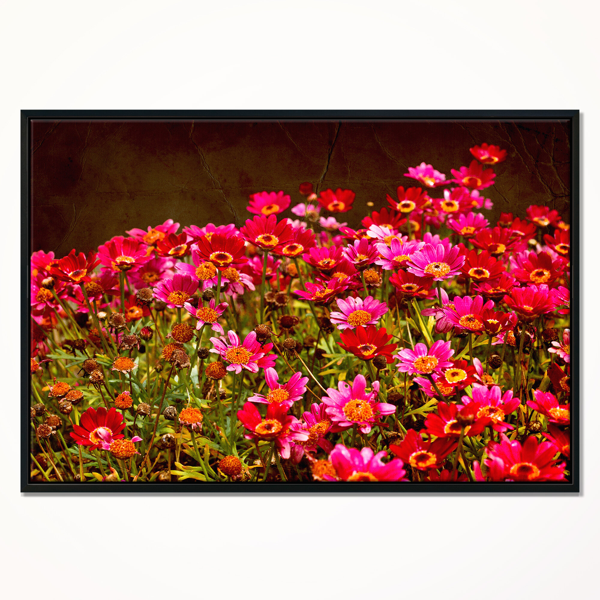 East Urban Home Small Red Flowers In Spring Photo Framed
