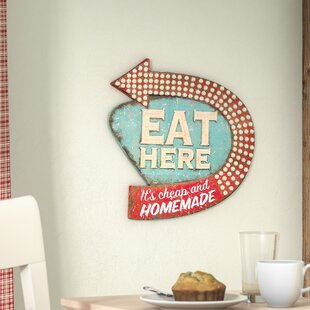 Casual Country Eat Here Retro Wall Décor