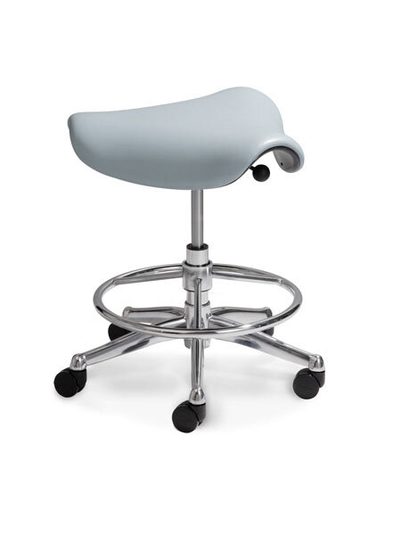 Humanscale Height Adjustable Saddle Seat With Casters U0026 Reviews | Wayfair