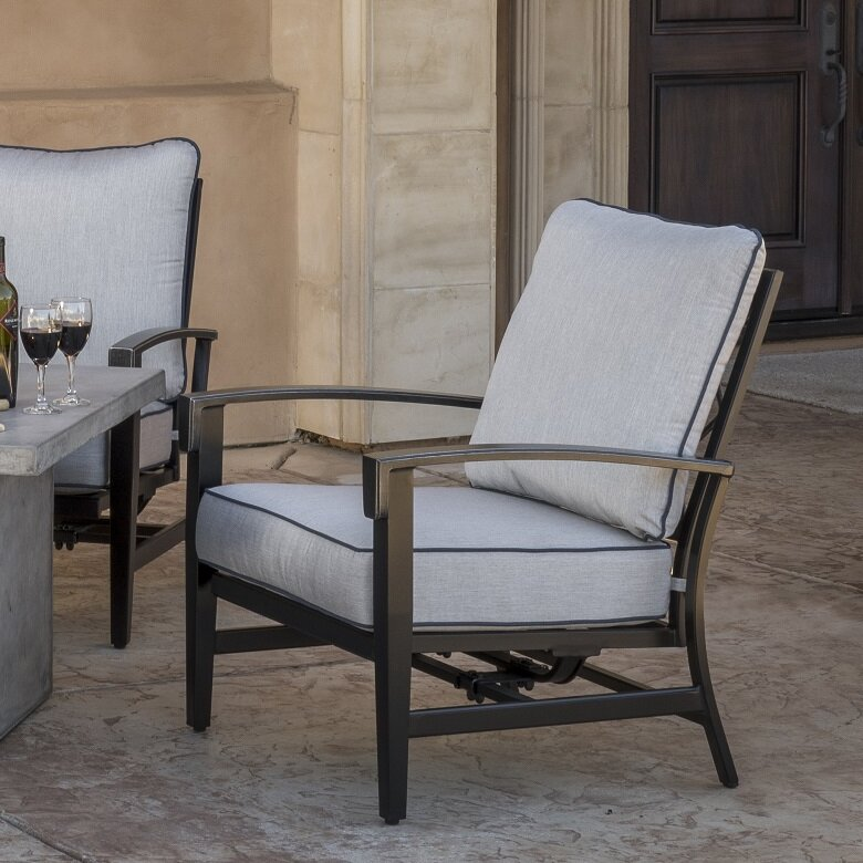 fcb6dc6ab9f7 darby home co duncombe motion patio chair with sunbrella cushionsdarby home  co duncombe motion patio chair