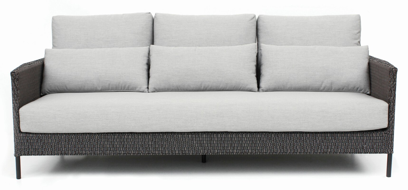Precision Indoor Outdoor 3 Seater Patio Sofa With Cushions
