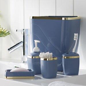 teal bathroom accessories. Wayfair Basics 5 Piece Bathroom Accessory Set  of Teal Accessories