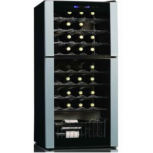 45 Bottle Dual Zone Freestanding Wine Cooler by Koolatron