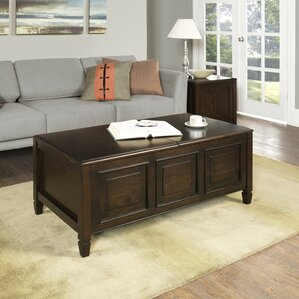 Connaught Coffee Table with Trays by Simpli Home