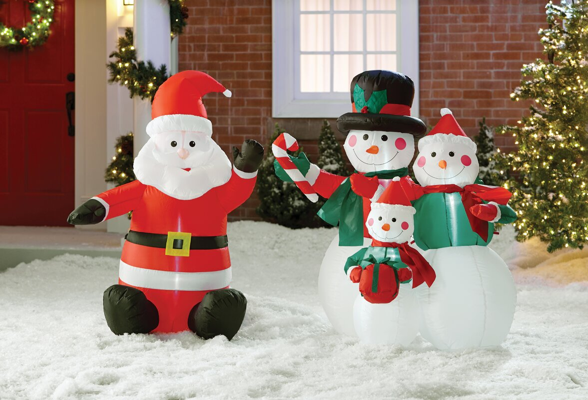 The Holiday Aisle Inflatable Santa Claus Decoration