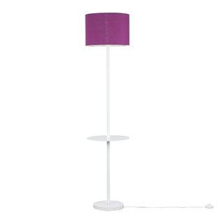 Purple floor lamps wayfair steward single stem 125cm floor lamp aloadofball Gallery