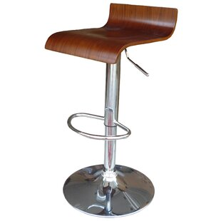 Zielinski Adjustable Height Bar Stool (Set of 2)