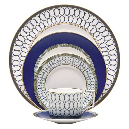 Renaissance 5 Piece Place Setting Service for 1  sc 1 st  Perigold & Dinnerware Sets u0026 Place Settings | Perigold