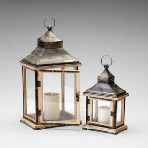Iron and Wood Oxford Lanterns