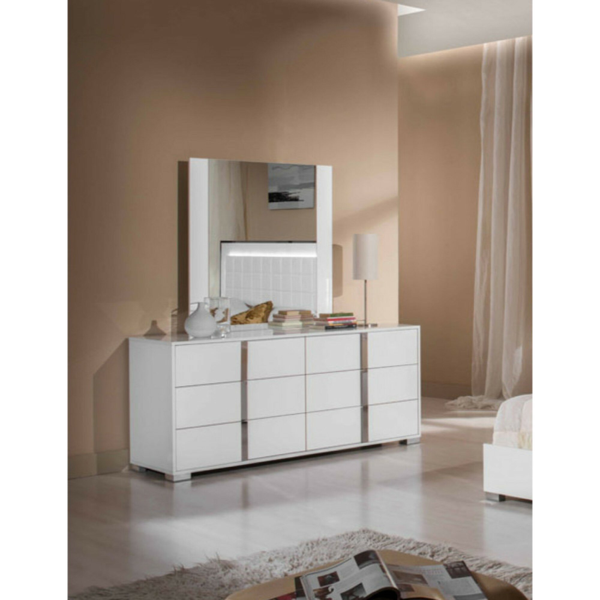 Orren ellis desai modern wooden 6 drawer double dresser wayfair ca