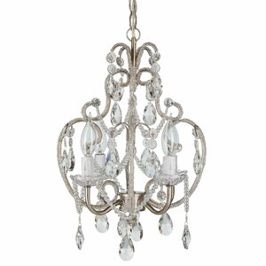 Alida 4-Light Crystal Chandelier with Hooks