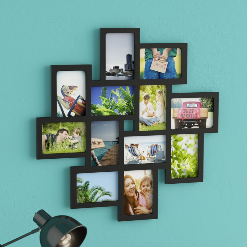 f22be555c85 Nordman 12 Opening Decorative Wood Photo Collage Wall Hanging Picture Frame