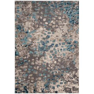 Annabel Gray Light Blue Area Rug