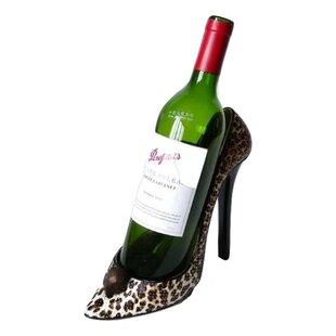 Griego Leopard Stiletto Shoe 1 Bottle Tabletop Wine Rack